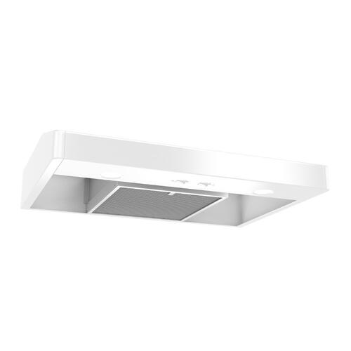Tenaya 1 36-inch 250 CFM White Under-Cabinet Range Hood with light