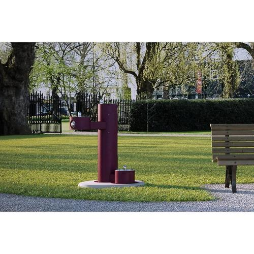 Elkay - Elkay Outdoor Fountain Bi-Level Pedestal with Pet Station, Non-Filtered Non-Refrigerated Purple
