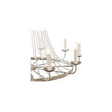 See Details - Naples Medium White Chandelier