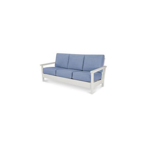 Harbour Deep Seating Sofa in Vintage White / Cast Ocean