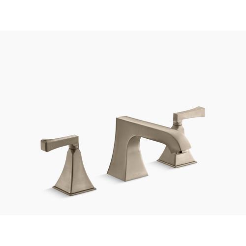 Kohler - Vibrant Brushed Bronze Deck-mount High-flow Bath Faucet Trim With Non-diverter Spout and Deco Lever Handles, Valve Not Included