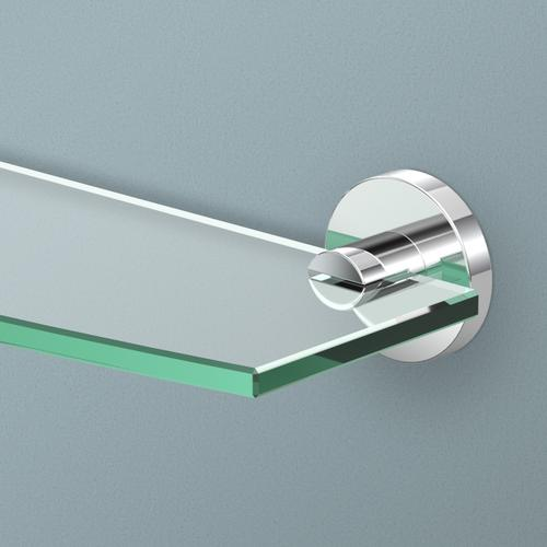 Reveal Glass Shelf in Chrome