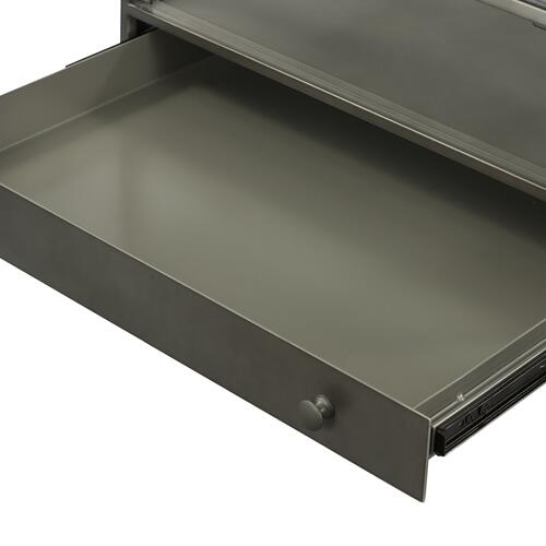 Gunmetal Finish Shadow Box End Table