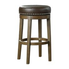 See Details - Round Swivel Pub Height Stool, Brown