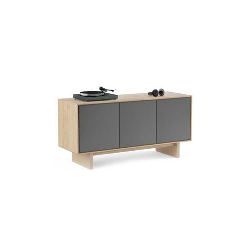 Triple Width Media Cabinet 8377 Gfl in Drift Oak