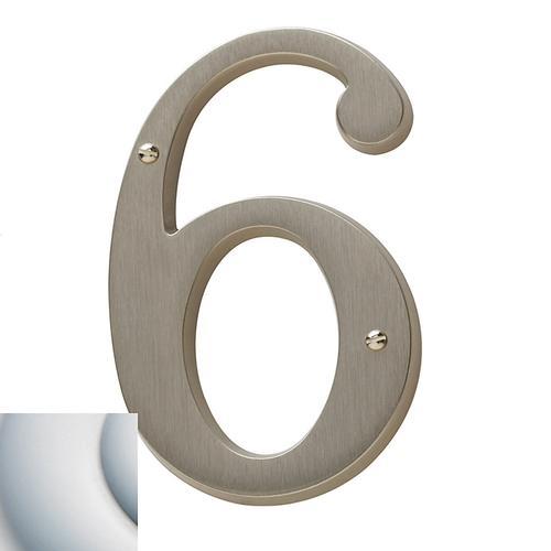 Satin Chrome House Number - 6