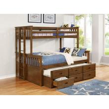 Atkin Weathered Walnut Twin Xl-over-queen Bunk Bed
