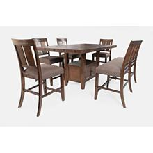 Mission Viejo High-Low Storage Table and 4 Stools