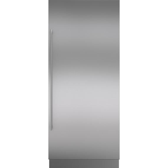 "Sub-Zero - Stainless Steel Door Panel wtih Tubular Handle and 6"" Toe Kick - RH"