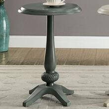Saira Round Accent Table, Antique Teal