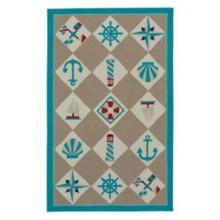 Nautical Grid Beige - Rectangle - 3' x 5'