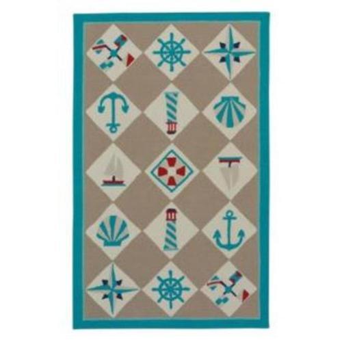 Capel Rugs - Nautical Grid Beige - Rectangle - 3' x 5'