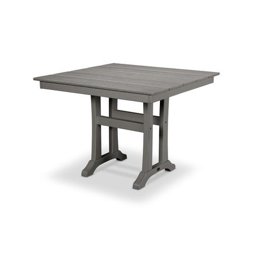 """Teak Farmhouse 37"""" Dining Table"""
