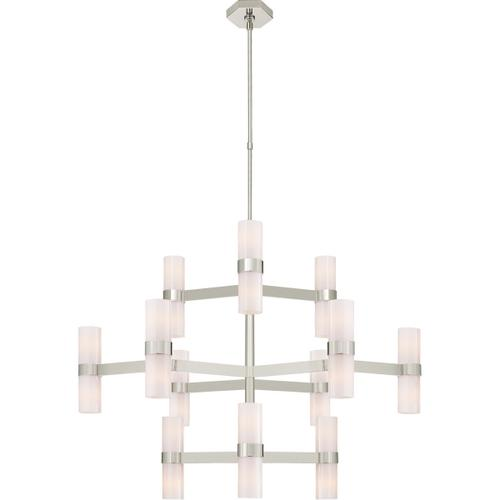 AERIN Margita 24 Light 45 inch Polished Nickel Chandelier Ceiling Light, Medium