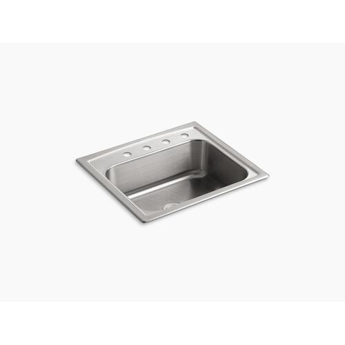 "25"" X 22"" X 7-11/16"" Top-mount Single-bowl Kitchen Sink With 4 Faucet Holes"