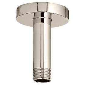 3 Inch Ceiling Mount Shower Arm - Polished Nickel
