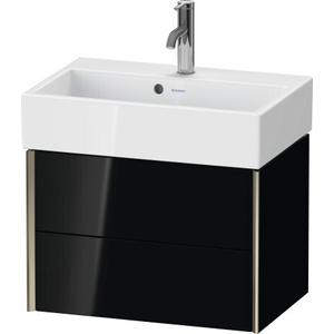 Duravit - Vanity Unit Wall-mounted Compact, Black High Gloss (lacquer)