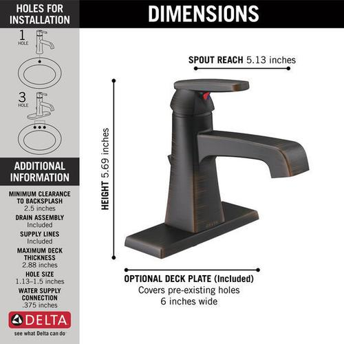Venetian Bronze Single Handle Bathroom Faucet