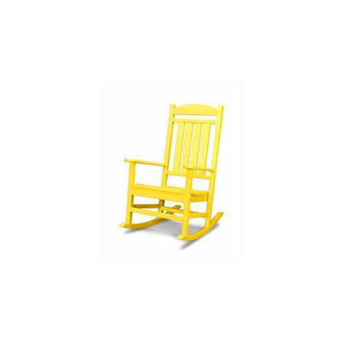 Polywood Furnishings - Presidential Rocking Chair in Lemon