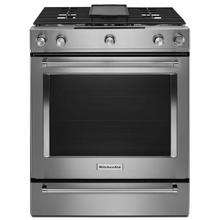See Details - 30-Inch 5-Burner Dual Fuel Convection Slide-In Range with Baking Drawer - Stainless Steel