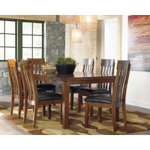 Ralene Butterfly EXT Table & 6 Chairs Medium Brown