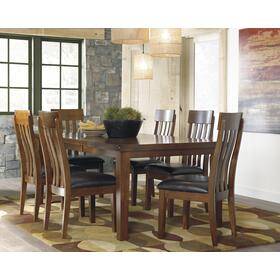 Ralene Butterfly EXT Table W/ 6 Chairs Medium Brown
