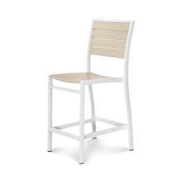 Polywood Furnishings - Eurou2122 Counter Side Chair in Satin White / Sand