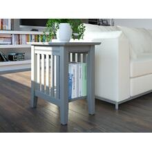 See Details - Mission Chair Side Table Atlantic Grey