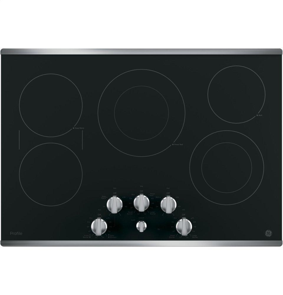 """GE Profile30"""" Built-In Knob Control Electric Cooktop"""