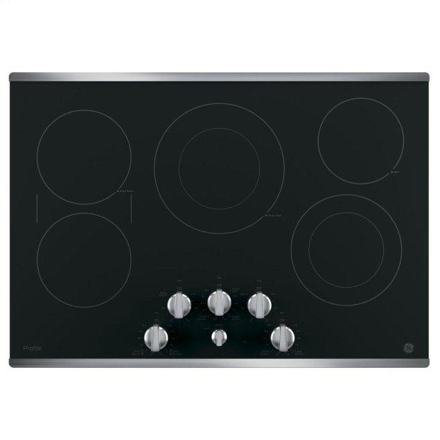"GE Profile 30"" Built-In Knob Control Electric Cooktop"