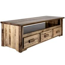 See Details - Homestead Collection Sitting Chest / Entertainment Center, Stain and Lacquer Finish