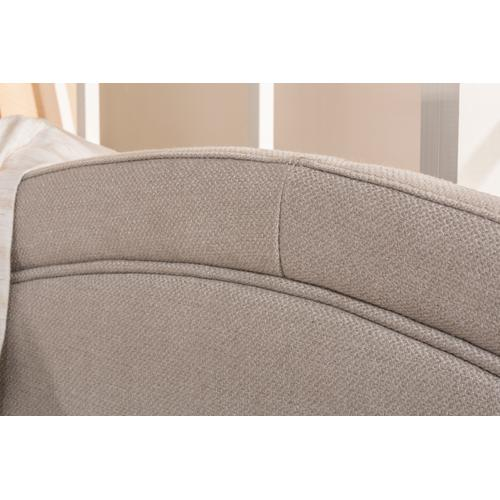 Jasmine Complete Twin Size Daybed With Trundle, Dove Gray Fabric