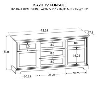 See Details - Howard Miller Custom TV Console TS72H