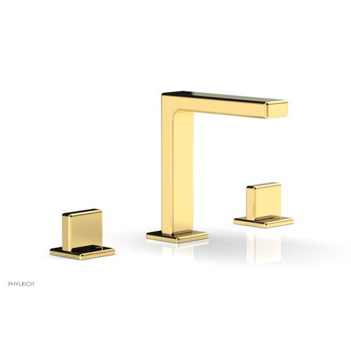 """MIX Widespread Faucet - Blade Handle 6-3/4"""" Height 290-01 - Polished Gold"""