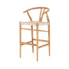 Bar Stool Size Matte Sealed Teak Finish Muestra Bar + Counter Stool