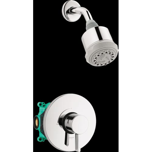 Chrome Pressure Balance Shower Set with Rough, 2.5 GPM