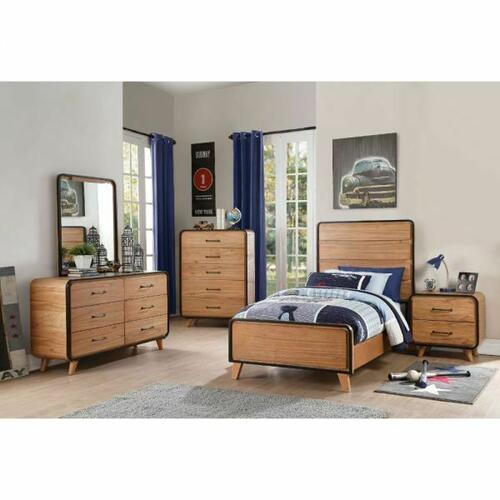 ACME Carla Twin Bed - 30760T - Oak & Black