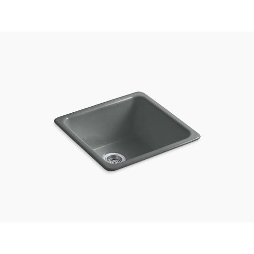 """Basalt 20-7/8"""" X 20-7/8"""" X 10"""" Top-mount/undermount Single-bowl Kitchen Sink"""