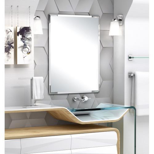 Gatco - Flush Mount Facet Mirror in Chrome