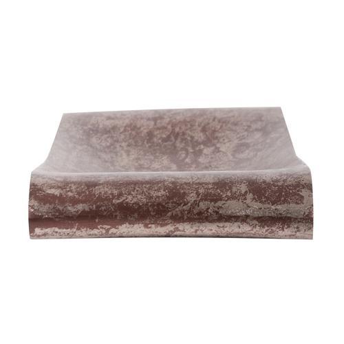 Howard Elliott - Antiqued Bronze Aluminum Scroll Tray, Small