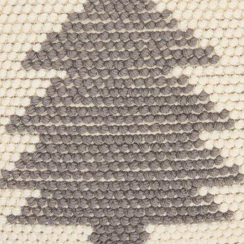 "Holiday Pillows Dc569 Ivory/grey 20"" X 20"" Throw Pillow"