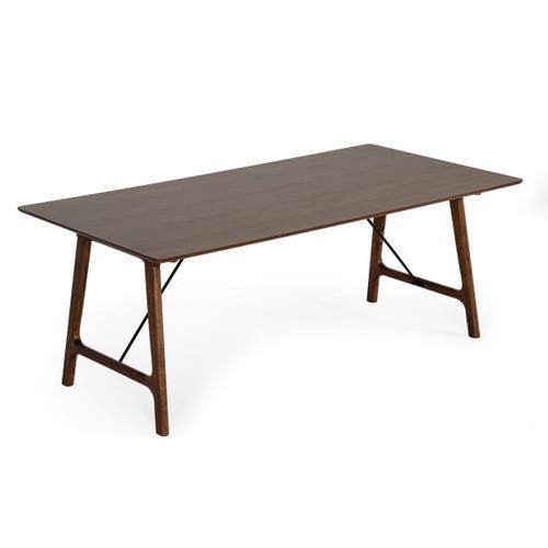 VIG Furniture - Modrest Oritz Mid-Century Modern Walnut Dining Table