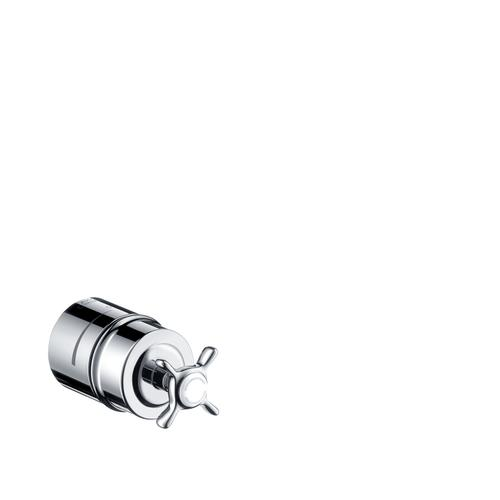 Stainless Steel Optic Wall outlet stop with non return valve, shut-off valve and cross handle