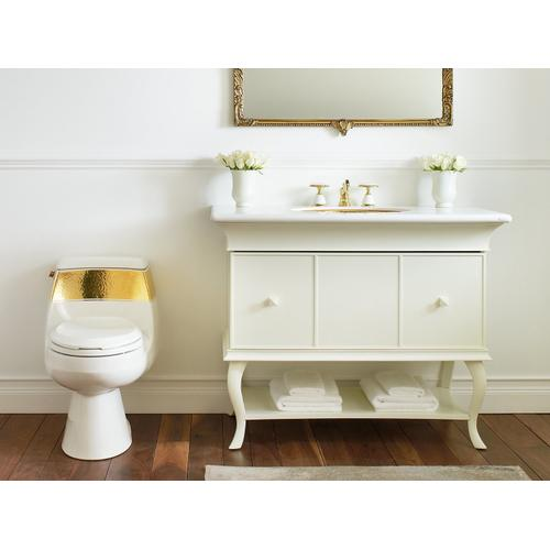 Laureate - Gold One-piece Elongated Chair Height Toilet