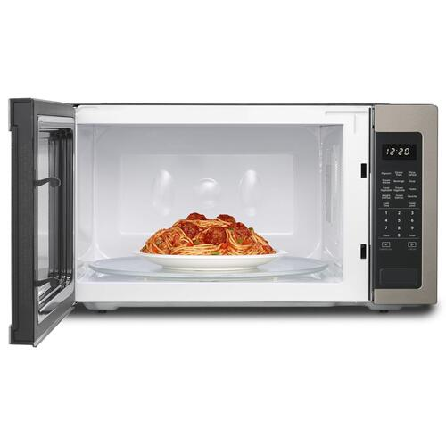 2.2 cu. ft. Countertop Microwave with 1,200-Watt Cooking Power Fingerprint Resistant Sunset Bronze