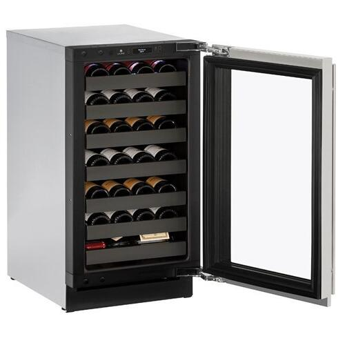 "18"" Wine Refrigerator With Stainless Frame Finish and Field Reversible Door Swing (115 V/60 Hz Volts /60 Hz Hz)"