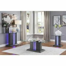 ACME Bernice Coffee Table - 80670 - Gray Oak & Clear Glass