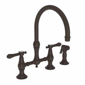 Oil Rubbed Bronze Kitchen Bridge Faucet with Side Spray