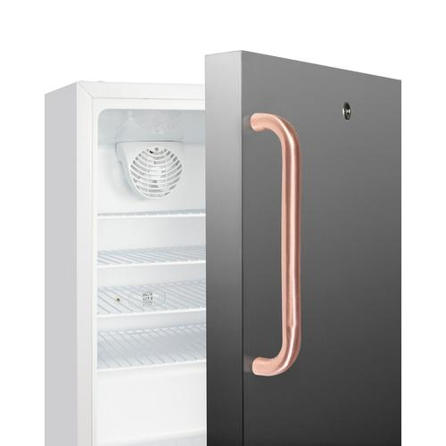 Summit - Built-in Undercounter ADA Compliant +2°c To +8°c Commercially Approved All-refrigerator With White Cabinet and Stainless Steel Door, Pure Copper Towel Bar Handle, Lock, Digital Controls, Wire Shelving, Hospital Cord With 'green Dot' Plug, Factory Installed Access Port, and Automatic Defrost Operation