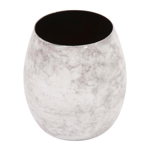 Howard Elliott - Gray Marbled Iron Candle Holder, Large
